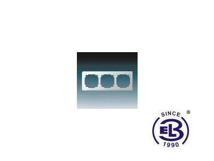 Rámeček pro elektroinstalační přístroje trojnásobný Swing L, jasně bílý, 3901J-A00030B1 ABB