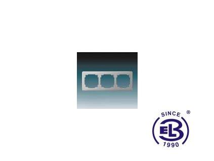 Rámeček pro elektroinstalační přístroje trojnásobný Swing L, světle šedý, 3901J-A00030S1 ABB