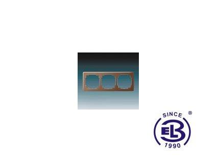 Rámeček pro elektroinstalační přístroje trojnásobný Swing L, hnědý, 3901J-A00030H1 ABB