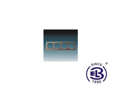 Rámeček pro elektroinstalační přístroje čtyřnásobný Swing L, hnědý, 3901J-A00040H1 ABB