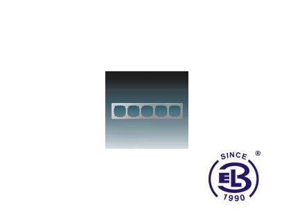 Rámeček pro elektroinstalační přístroje pětinásobný Swing L, světle šedý, 3901J-A00050S1 ABB