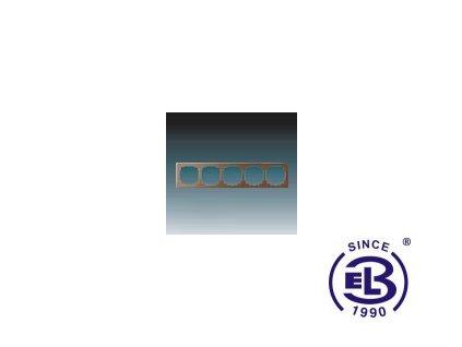 Rámeček pro elektroinstalační přístroje pětinásobný Swing L, hnědý, 3901J-A00050H1 ABB