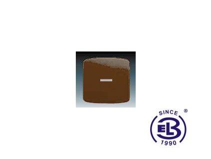 Kryt jednoduchý s čirým průzorem Tango, hnědá, 3558A-A653H ABB
