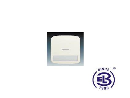 Kryt jednoduchý s popisovým polem, s čirým průzorem Tango, slonová kost, 3558A-A610C ABB