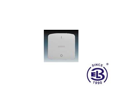 Kryt jednoduchý s potiskem, s čirým průzorem Tango, šedá, 3558A-A655S ABB