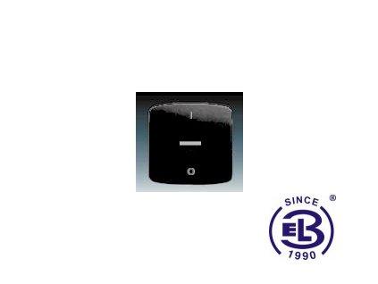 Kryt jednoduchý s potiskem, s čirým průzorem Tango, černá, 3558A-A655N ABB