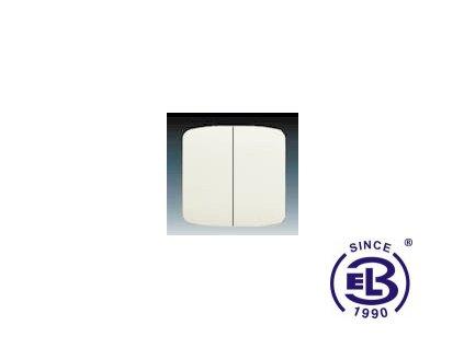 Kryt dělený Tango, slonová kost, 3558A-A652C ABB