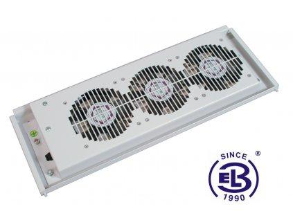 Ventilační jednotka boční, 3 ventilátory, šedá