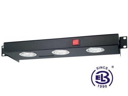 Osvětlovací jednotka halogenová, výška 1U, černá