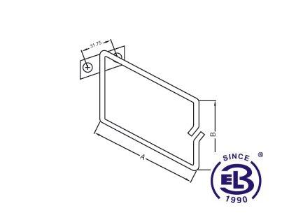 Vyvazovací háček kovový 40x40 EPCM1-4/4
