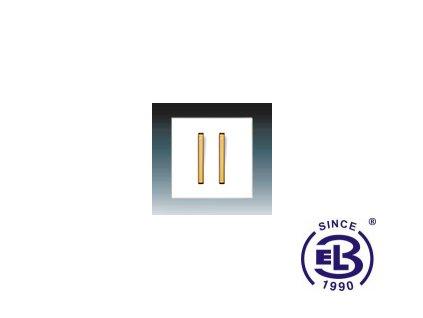 Kryt jednoduchý se dvěma páčkami Neo/ Neo Tech, bílá/ledová oranžová, 3559M-A0065243 ABB