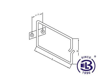 Vyvazovací háček kovový 40x40 EPCM2-4/4