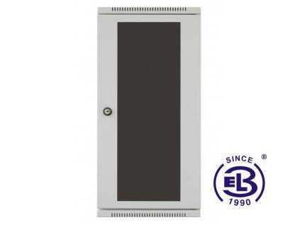 """Rozvaděč nástěnný 10"""", LC-10, 6U, 300x265, šedý, skleněné dveře"""