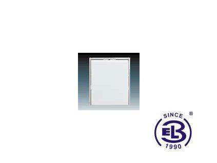 Kryt jednoduchý Element, bílá/ledová šedá, 3558E-A0065104 ABB