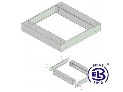 Podstavec pro LC-06+, 16+, 05+ a SENSA, 800x800, výška 10cm, šedý