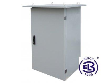 Rozvaděč termoizolovaný LC-07+, 24U, 700x600, šedý, ventilační jednotka na levé straně