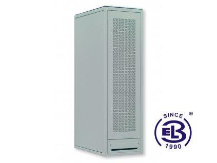 Rozvaděč serverový LC-06+, 42U, 600x1000, šedý, skleněné dveře, perforovaná záda