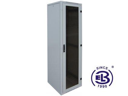 """Rozvaděč nýtovaný 19"""", LC-16+, 28U, 600x600, šedý, skleněné dveře"""