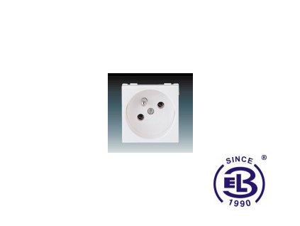 Zásuvka 45x45 s ochranným kolíkem Profil 45, bílá, řazení 2P+PE, 5525N-C02347B ABB