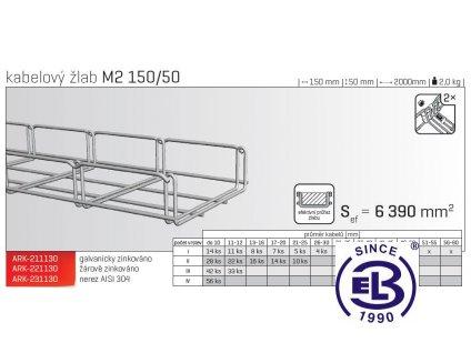 Kabelový žlab MERKUR 2, M2 150/50mm, 2000mm ARK - 231130 A2, ARKYS