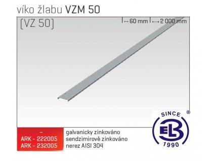 Víko žlabu MERKUR 2, VZM 50 ARK - 222005 SZ, ARKYS
