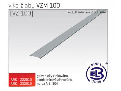 Víko žlabu MERKUR 2, VZM 100 ARK - 222210 ŽZ, ARKYS