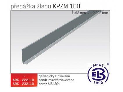 Přepážka žlabu MERKUR 2, KPZM 100 ARK - 222310 ŽZ, ARKYS