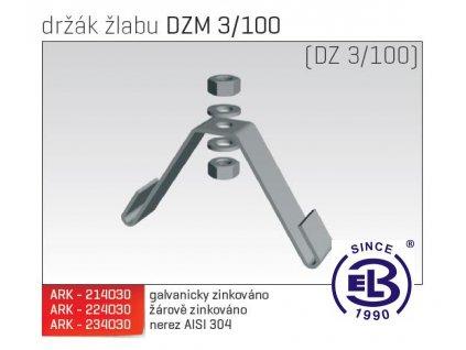 Držák žlabu MERKUR 2, DZM 3/100 ARK - 224030 ŽZ, ARKYS