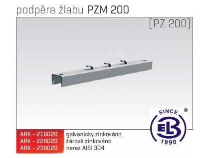 Podpěra žlabu MERKUR 2, PZM 200 ARK - 226020 ŽZ, ARKYS