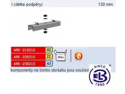 Podpěra žlabu protipožární MERKUR 2, PZMP 100 ARK - 216210 GZ, ARKYS