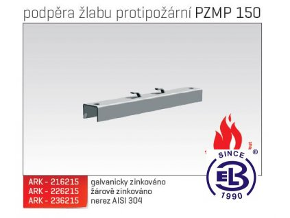 Podpěra žlabu protipožární MERKUR 2, PZMP 150 ARK - 226215 ŽZ, ARKYS