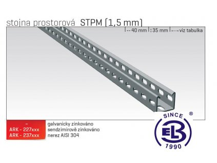 Stojna prostorová MERKUR 2, STPM 300 1,5mm ARK - 227630 ŽZ, ARKYS