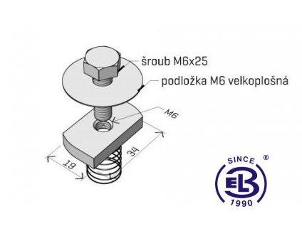 Matice obdélníková MERKUR 2, MSM/M6 ARK - 218951 GZ, ARKYS