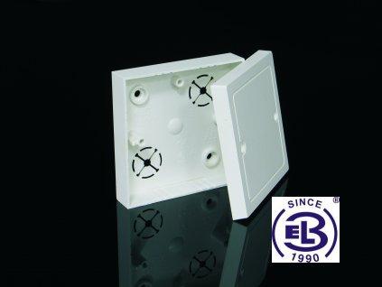 Krabice odbočná s víčkem VLK 80, LK 80/2 82x82x24,5 KOPOS