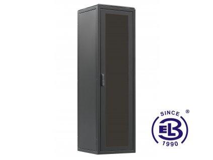 Rozvaděč stojanový LC-06+, 24U, 600x600 BK, skleněné dveře