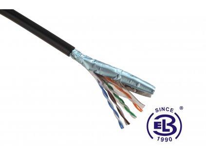 Kabel datový Cat 5E FTP PE venkovní, balení 305m SOLARIX