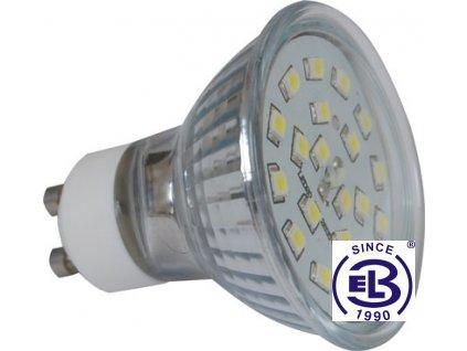 Žárovka LED20 SMD 2835 GU10 2W - CW studená bílá 220lm