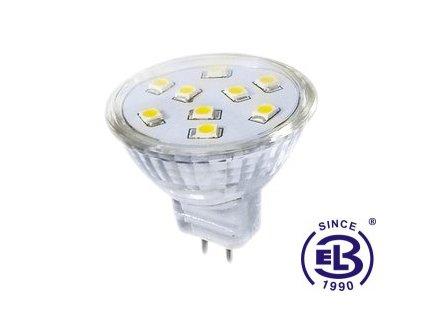 Žárovka LED9 SMD 2835 MR11 2W - WW teplá bílá 200lm