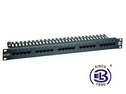 ISDN panel 50 x RJ45 černý 1U SOLARIX