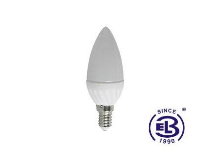 Žárovka LED CANDLE E14 4W - CW studená bílá 420lm