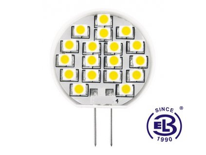 Žárovka LED 18 SMD 2835 JC 1W - CW studená bílá 130lm