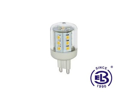 Žárovka LED 23 SMD 2835 G9 2,6W - CW studená bílá 315lm