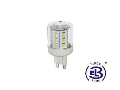 Žárovka LED 23 SMD 2835 G9 2,6W - WW teplá bílá 305lm