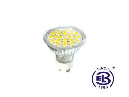 Žárovka LED24 DAISY SMD 5050 GU10 4W - CW studená bílá 270lm
