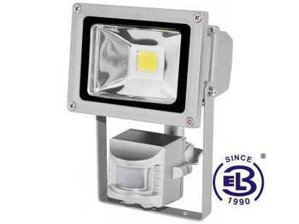 Reflektor LED TOMI MCOB 10W - studená bílá 750lm s čidlem pohybu