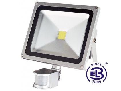 Reflektor LED TOMI MCOB 30W - studená bílá 2500lm s čidlem pohybu