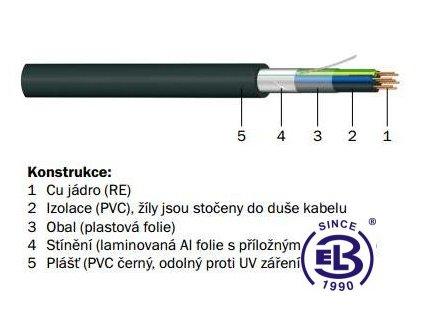 Kabel JQTQ 14x0,8 RE PRAKAB