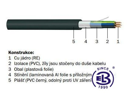 Kabel JQTQ 19x0,8 RE PRAKAB