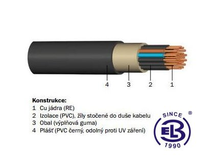 Kabel CYKY-J 12x2,5 RE PRAKAB