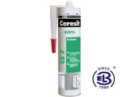 Tmel acrylový stavební bílý CS7 280ml CERESIT